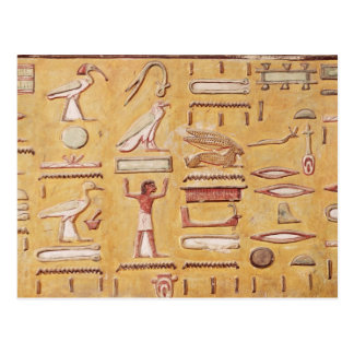Hieroglyphics, from the Tomb of Seti I Postcard