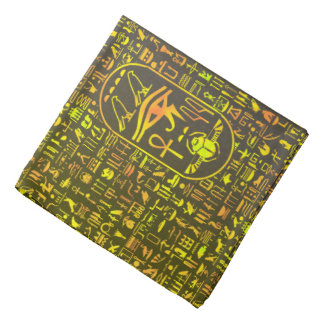 Hieroglyphics Green Bandana