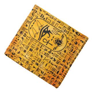 Hieroglyphics Sangria Bandana