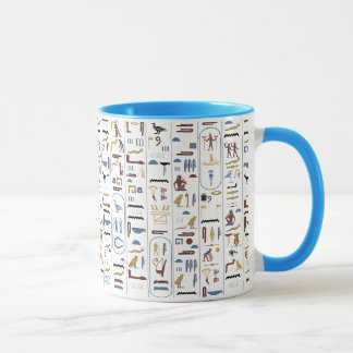 Hieroglyphs Ancient Egypt Pharaoh Mug