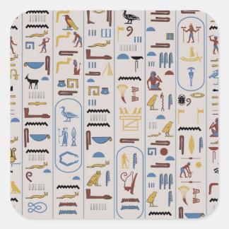 Hieroglyphs Ash Color Pharaoh Square Sticker