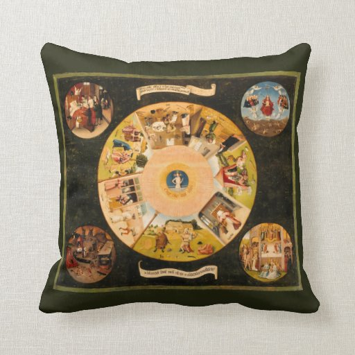 Hieronymous Bosch: Table of the mortal sins Pillow