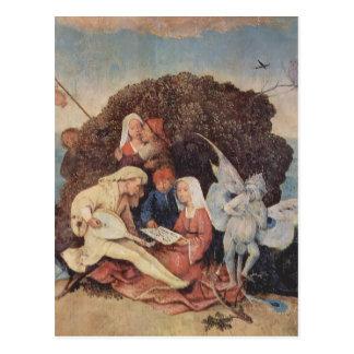 Hieronymus Bosch- Haywain (detail) Postcard