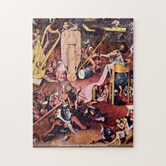 Hieronymus Bosch - The Garden of Hell detail PUZZL Jigsaw Puzzle