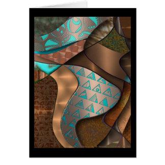 Hieroquoise Cupriglyphs Card