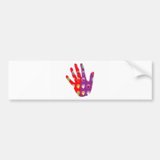 HiFi High5 HighFive  HAND des cadeaux pour tous Bumper Sticker