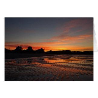 Higgins Beach Rippled Sand Sunrise Card
