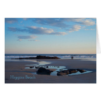 Higgins Beach Sand Dollar Rock Card