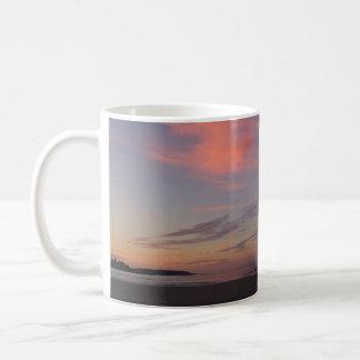 Higgins Beach Sunrise with two pink clouds Coffee Mug