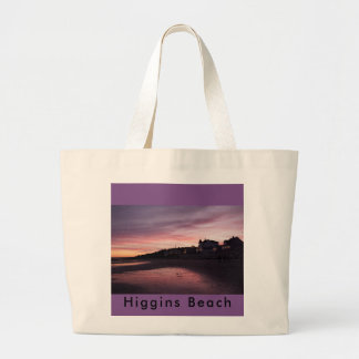 Higgins Beach Sunset Large Tote Bag