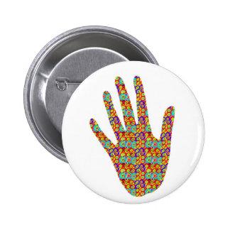 HIGH5 HighFive HIfi dots n circles Graphic Art Soc Pinback Button