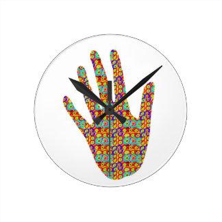 HIGH5 HighFive HIfi dots n circles Graphic Art Soc Round Wall Clocks