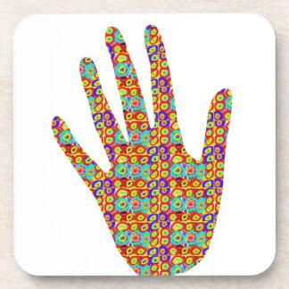 HIGH5 HighFive HIfi dots n circles Graphic Art Soc Beverage Coaster