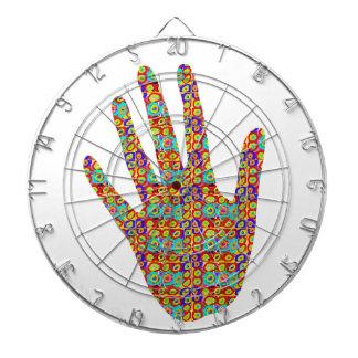 HIGH5 HighFive HIfi dots n circles Graphic Art Soc Dartboard With Darts