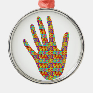HIGH5 HighFive HIfi dots n circles Graphic Art Soc Metal Ornament