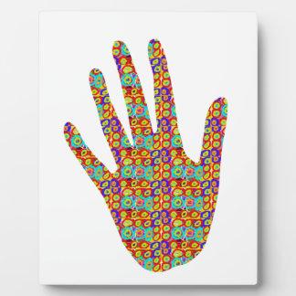 HIGH5 HighFive HIfi dots n circles Graphic Art Soc Photo Plaque