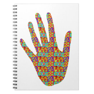 HIGH5 HighFive HIfi dots n circles Graphic Art Soc Spiral Note Book