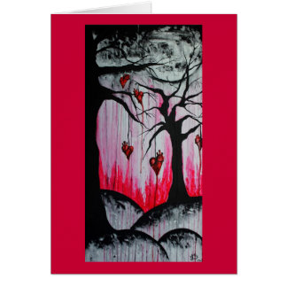 High and Dry Heart Trees Orig Art Greeting Card