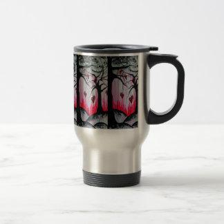High and Dry Heart Trees Original Art Stainless Steel Travel Mug