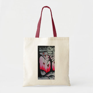 High and Dry Heart Trees Original Art Tote Bag