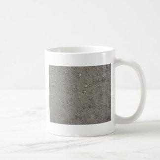 High angle view of brown ground coffee mug
