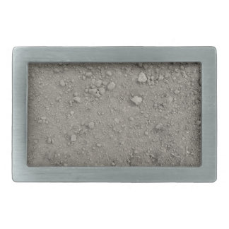 High angle view of brown ground rectangular belt buckle