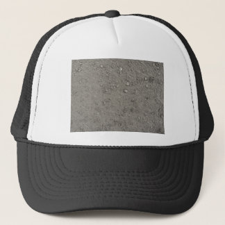 High angle view of brown ground trucker hat
