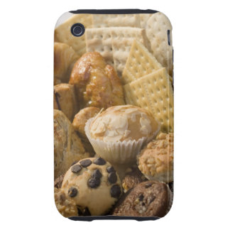 High angle view of muffins and crackers in a iPhone 3 tough covers