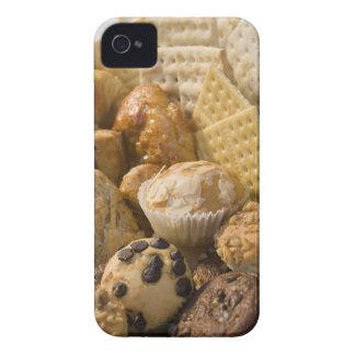 High angle view of muffins and crackers in a iPhone 4 cases