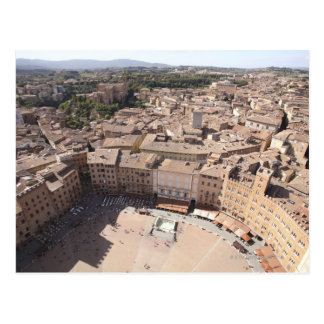 High Angle View of Townscape, Siena, Italy Postcard
