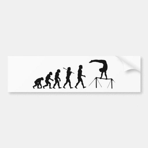 High Bar Gymnastics Evolution Sports Bumper Sticker