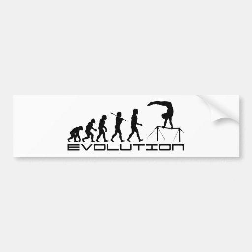 High Bar Gymnastics Sport Evolution Art Bumper Stickers