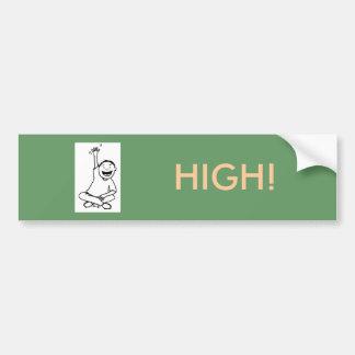 HIGH! BUMPER STICKER