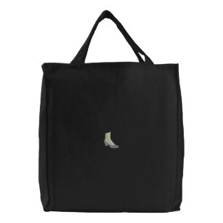 High Button Boot Embroidered Tote Bag