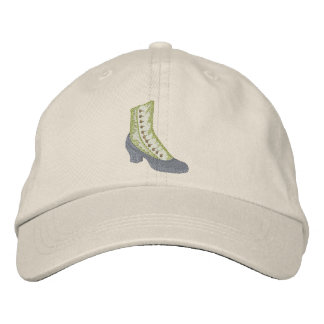 High Button Boot Embroidered Hat