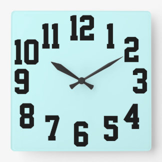High Contrast Big Numbers Easy Read Square Wall Clock