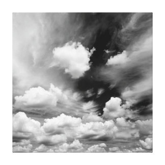 High Contrast Black and White Sky Canvas Print