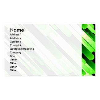 High contrast green business card
