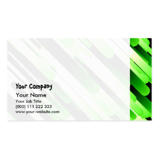 High contrast green pack of standard business cards
