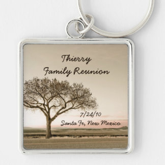 High Country Family Reunion Souvenir Silver-Colored Square Key Ring
