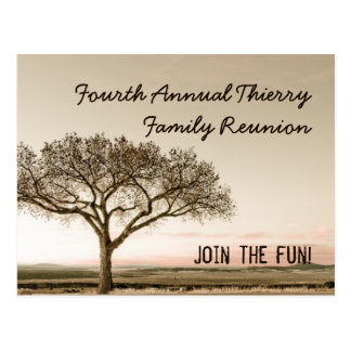 High Country Invite Postcard for Family Reunion