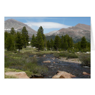 High Country Mountain Stream III Yosemite Park Card