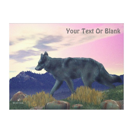 High Country Wolf Stretched Canvas Print