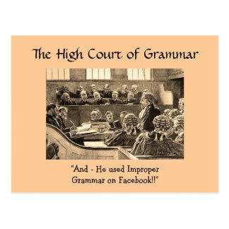 High Court of Grammar - Postcards