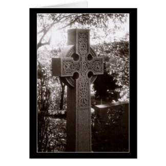 High Cross in Black and White Card