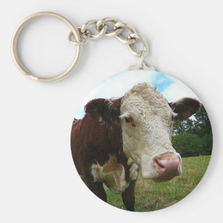 High Def Hereford Key Ring