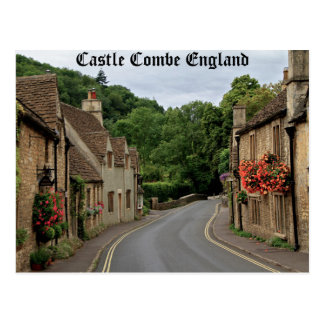 High def photography of Castle Combe England Postcard
