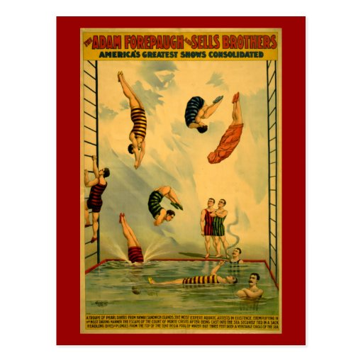 High Dive / Diving Circus Poster Post Card