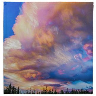 High Elevation Forest Sunset Sky Timed Stack Napkin