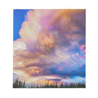 High Elevation Forest Sunset Sky Timed Stack Notepad